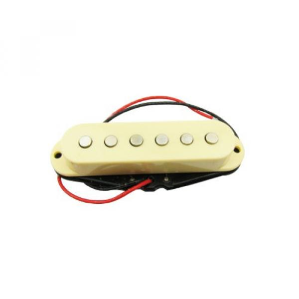 Musiclily 50MM Single Coil Pickup Middle Pickup for Fender Strat Squier Electric Guitar Parts, Cream Cover #1 image