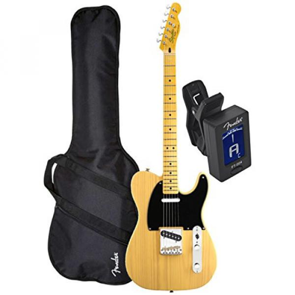 Squier Classic Vibe Tele 50's BTB Electric Guitar w/ Fender Gig Bag and Tuner #3 image