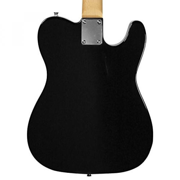 Sawtooth Classic ET 50 Ash Body Left Handed Electric Guitar Black w/Black pickguard, Case, Cable, Picks, Strap and Tuner #3 image