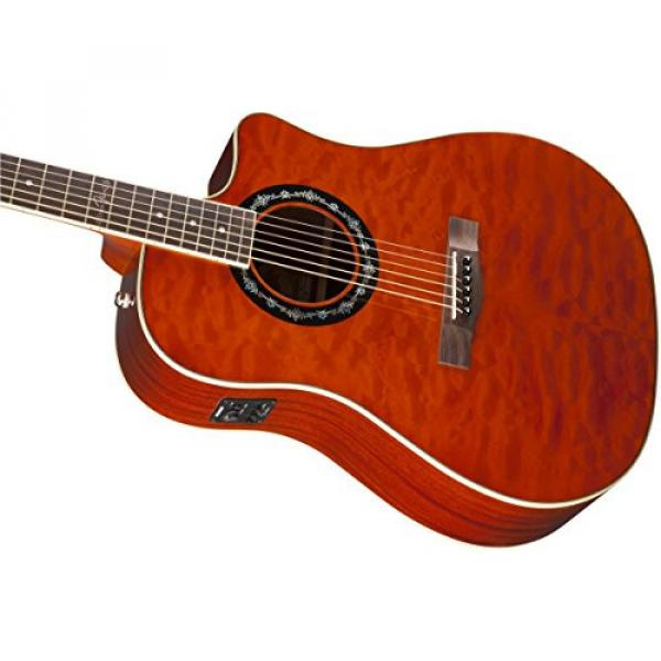 Fender T-Bucket 300CE Cutaway Acoustic-Electric Guitar, Quilted Maple Top, Mahogany Back and Sides, Fishman Preamp - Amber #5 image