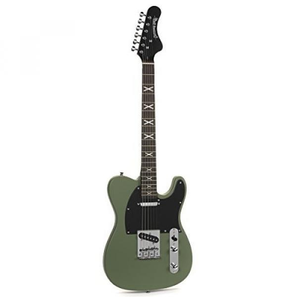 HardLuck Kings CSBELGR Chop Shop Series Solid-Body Electric Guitar, Southern Belle #1 image