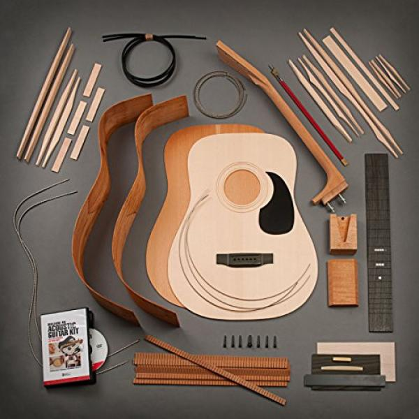 StewMac Build Your Own Dreadnought Acoustic Guitar Kit with Bolt-on Neck, Sitka Top, Mahogany Back & Sides #1 image
