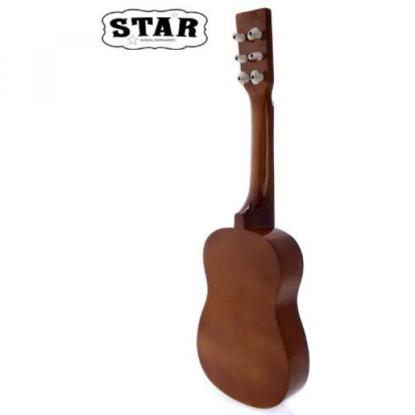 Star martin d45 MG50-BW martin guitar strings acoustic medium Kids guitar martin Acoustic martin Toy martin guitar accessories Guitar 23-Inches, Brown Color #3 image