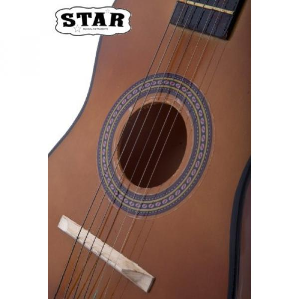 Star martin d45 MG50-BW martin guitar strings acoustic medium Kids guitar martin Acoustic martin Toy martin guitar accessories Guitar 23-Inches, Brown Color #5 image