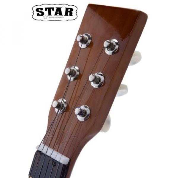 Star martin d45 MG50-BW martin guitar strings acoustic medium Kids guitar martin Acoustic martin Toy martin guitar accessories Guitar 23-Inches, Brown Color #6 image