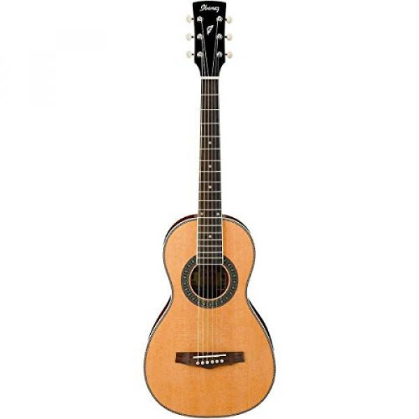Ibanez PN1 Natural Parlor Acoustic Guitar With Polishing Cloth, Picks, Tuner, and Stand #2 image