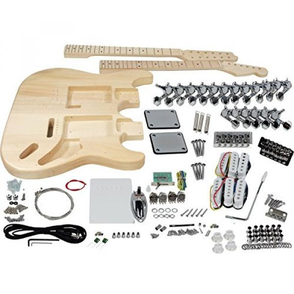 Solo ST Style Double Neck DIY Guitar Kit, Basswood Body, DSTK-1 #1 image