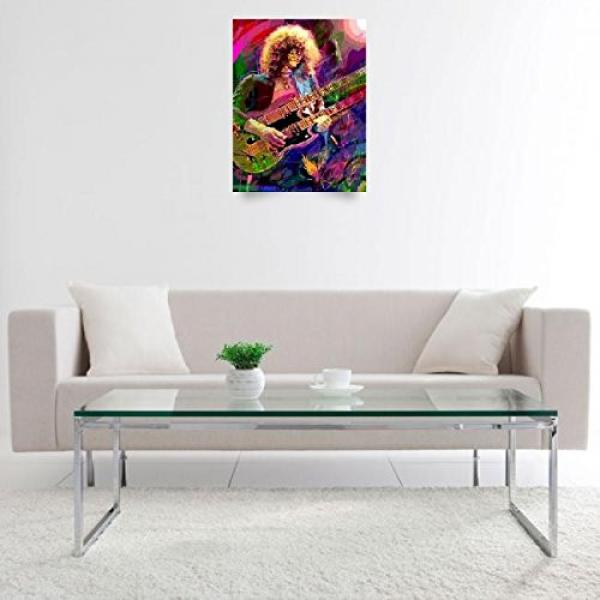 Wall Art Print entitled Jimmy Page Double Neck by David Lloyd Glover #3 image