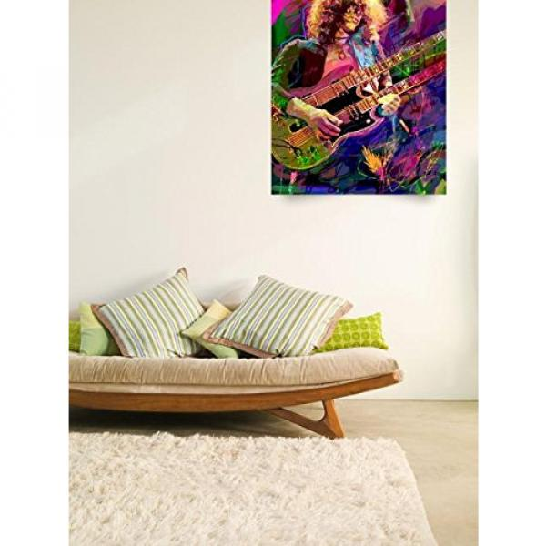 Wall Art Print entitled Jimmy Page Double Neck by David Lloyd Glover #4 image