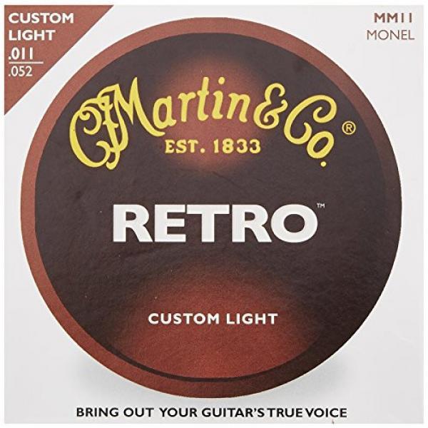 Martin martin guitar case MM11 martin d45 Retro martin guitar strings Monel martin guitar strings acoustic Acoustic martin guitar Guitar Strings, Custom Light, 11-52 #2 image