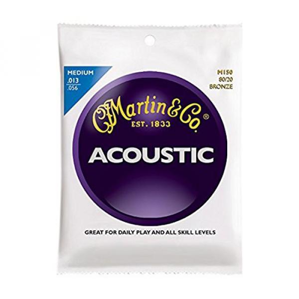 Martin martin strings acoustic M150 martin acoustic guitar 80/20 martin d45 Bronze martin guitars Round acoustic guitar strings martin Wound Medium Acoustic Guitar Strings #1 image