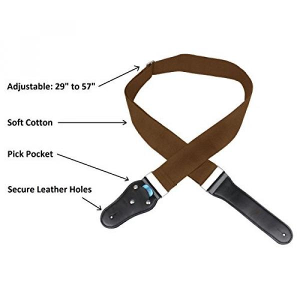 Acoustic martin guitars Guitar martin acoustic guitar strings Strap martin acoustic guitars - acoustic guitar strings martin Soft guitar martin Cotton no Slide During Playing and Cut Into Your Body Like Nylon - Wide Adjustment Range and Secure Leather Hol #5 image