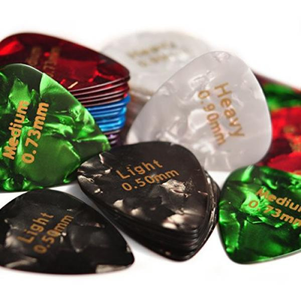 Celluloid martin guitar strings acoustic Guitar martin acoustic guitar Picks martin guitar 60 acoustic guitar strings martin Pcs dreadnought acoustic guitar - Recommended Electric, Acoustic or Bass Plectrum Colorful Cool Set - Thin (Light), Medium and Hea #3 image
