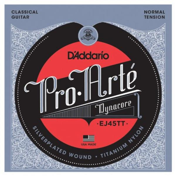 D'Addario martin guitar accessories EJ45TT martin acoustic guitar ProArte martin guitars DynaCore martin guitars acoustic Classical martin acoustic guitars Guitar Strings, Titanium Trebles, Normal Tension #1 image