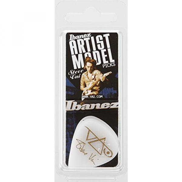 Ibanez B1000SVRWH Steve Vai Signature Picks 6 Pack, White #4 image