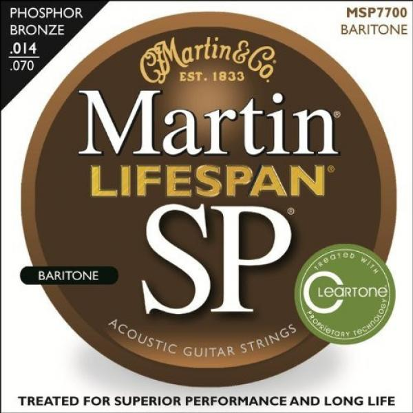 Martin guitar strings martin MSP7700 martin guitar strings acoustic SP dreadnought acoustic guitar Lifespan martin guitars 92/8 martin guitar Phosphor Bronze Acoustic String, Baritone Guitar #1 image
