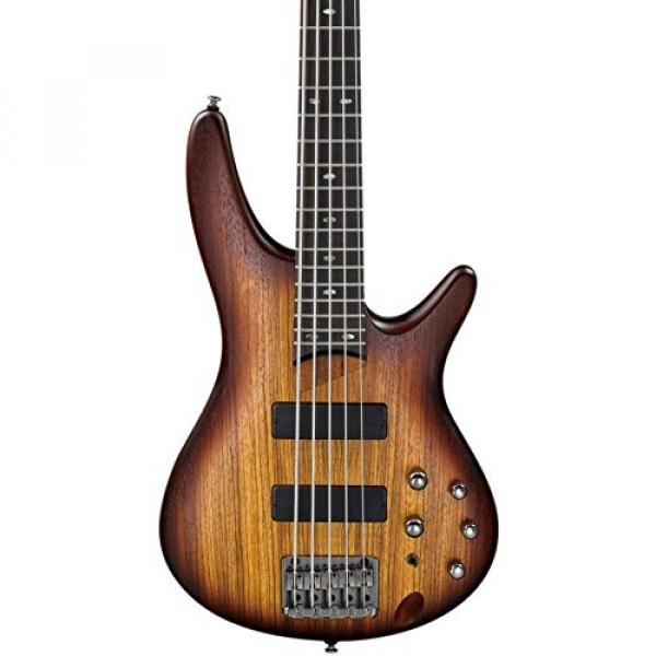 Ibanez SR505ZW 5-String Electric Bass Flat Brown Burst #1 image