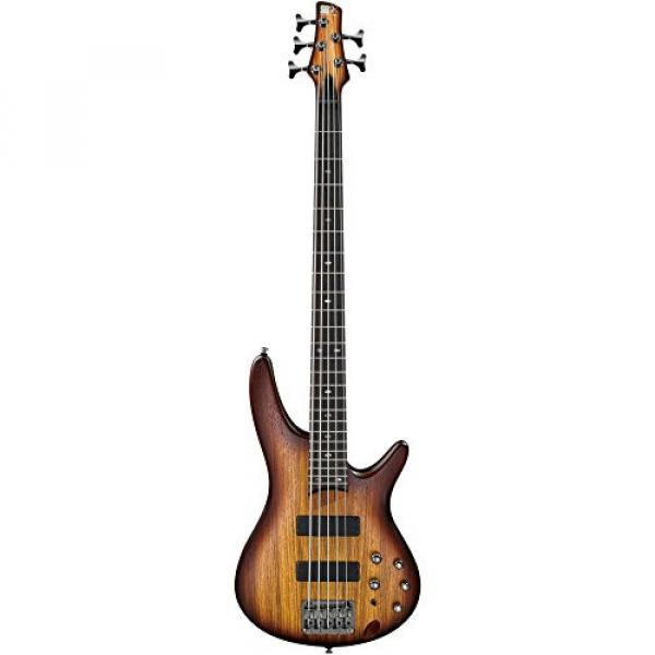 Ibanez SR505ZW 5-String Electric Bass Flat Brown Burst #2 image