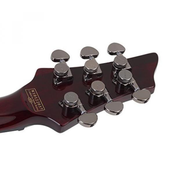 Schecter HELLRAISER C-VI Baritone 6-String Electric Guitar, Black Cherry #2 image