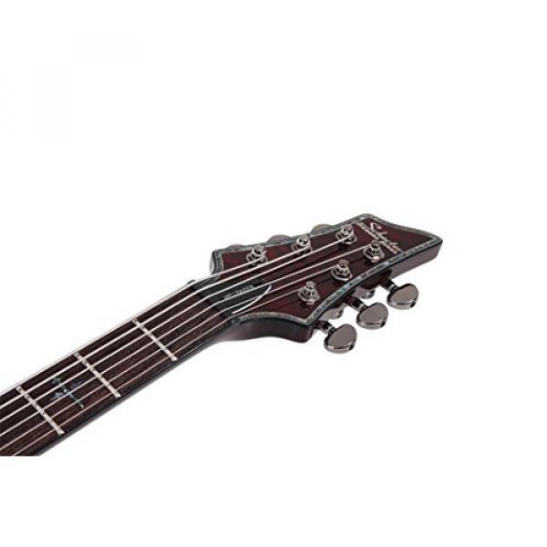 Schecter HELLRAISER C-VI Baritone 6-String Electric Guitar, Black Cherry #6 image