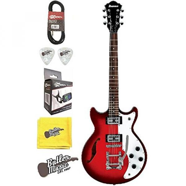 Ibanez Artcore AMF73TSRD Semi-Hollow Body Electric Guitar w/Effin Tuner & More #1 image