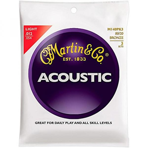 Martin martin strings acoustic M140 martin guitar strings acoustic medium 80/20 martin guitar Bronze dreadnought acoustic guitar Light martin acoustic strings 3-Pack Acoustic Guitar Strings #1 image