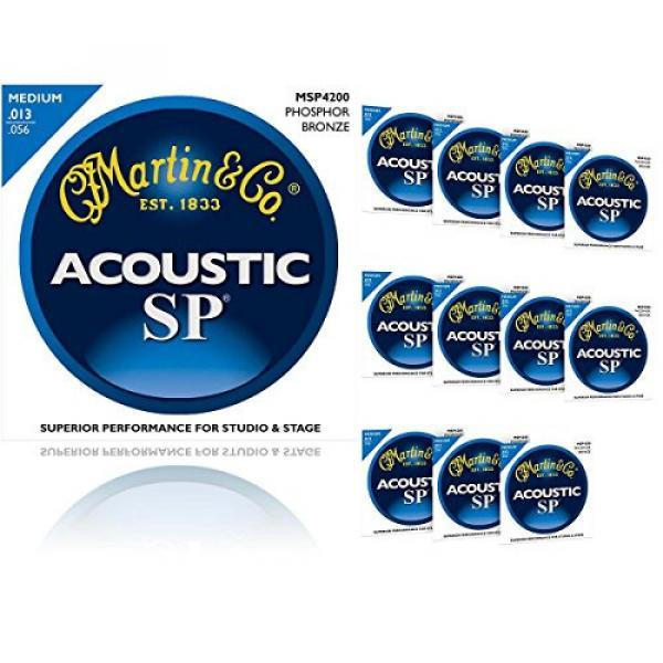 Martin martin d45 MSP4200 guitar strings martin SP martin guitars acoustic Phosphor acoustic guitar martin Bronze martin guitar strings acoustic medium Medium 12-Pack Acoustic Guitar Strings #1 image
