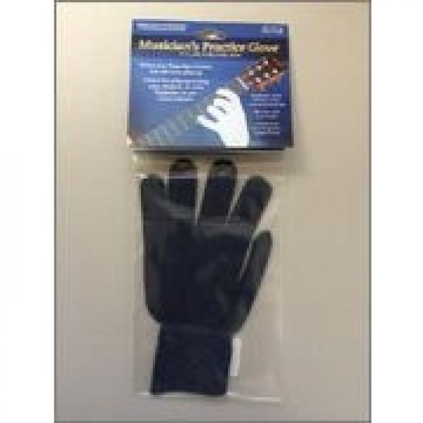 Guitar Glove, Bass Glove, Musician Practice Glove -XL- 2 Pack - fits either hand - COLOR: BLACK #4 image