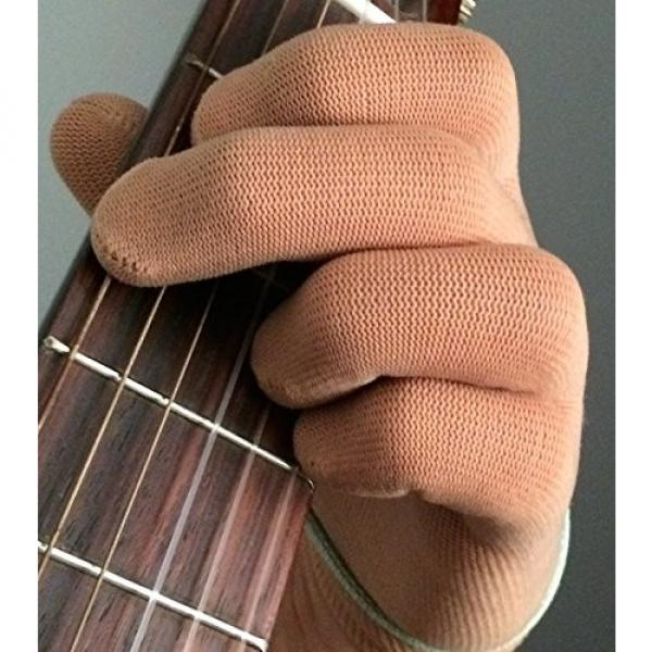 Guitar Glove, Bass Glove, Musician Practice Glove -XL- 2 Pack - fits either hand - COLOR: BLACK #6 image