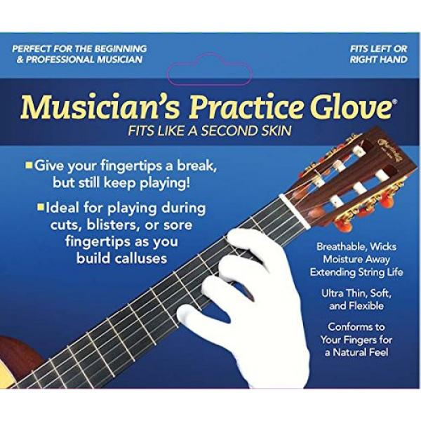 Guitar Glove, Bass Glove, Musician Practice Glove -XL- 2 Pack - fits either hand - COLOR: BLACK #7 image