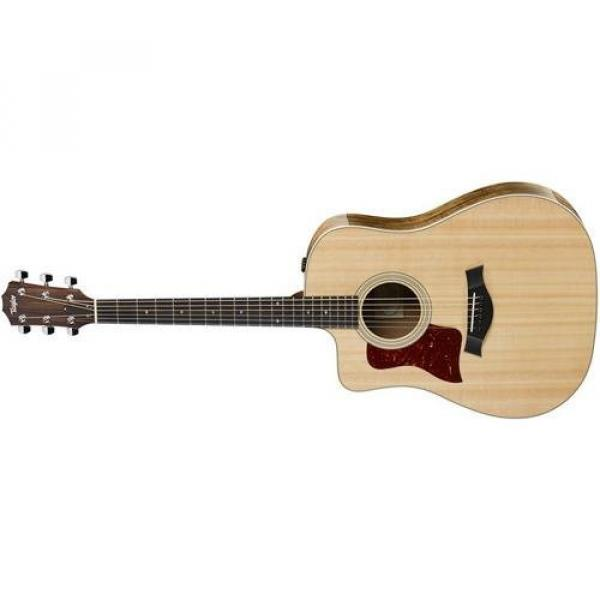 Taylor 210ce-K-DLX Koa Deluxe Left-Handed Dreadnought Acoustic-Electric Guitar #1 image