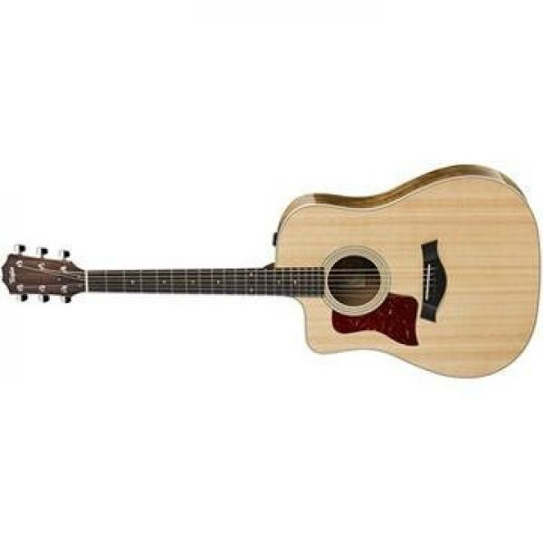 Taylor 210ce-K-DLX Koa Deluxe Left-Handed Dreadnought Acoustic-Electric Guitar #2 image