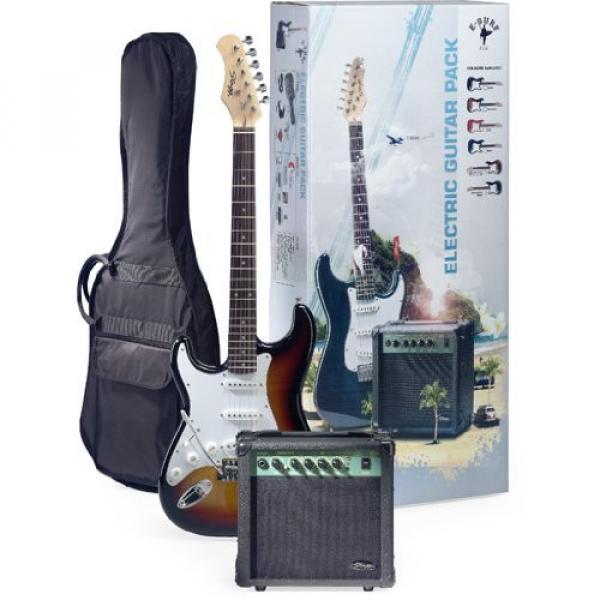 Stagg ESURF 250LHSB US Surfstar Left Handed Electric Guitar and Amplifier Package - Sunburst #1 image