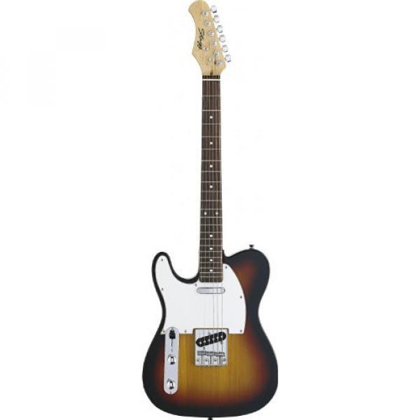 Stagg T320LH-SB Left-Handed Standard T Style 6-String Electric Guitar - Sunburst #1 image