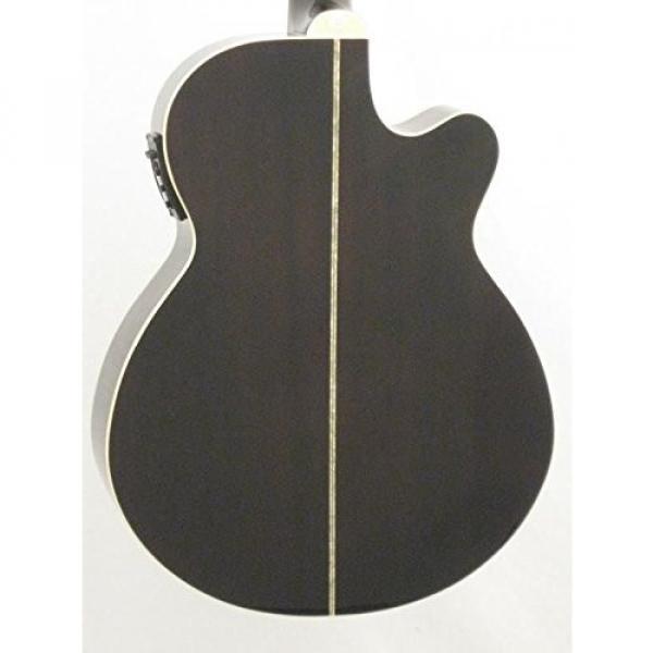 Oscar Schmidt OG10CEFTBLH Transparent Black Left-handed Acoustic Electric Guitar w/Gigbag and More! #4 image