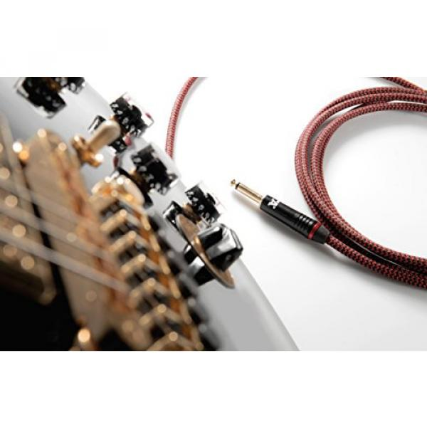 Red Dragon Guitar Cable - Sturdy and Ultra Flexible Instrument Cable For Electric and Bass Guitar Players, Super Noiseless. Used by Amateurs and Pros Alike - Gold Plugs - 20 Feet Straight-Rectangular #4 image