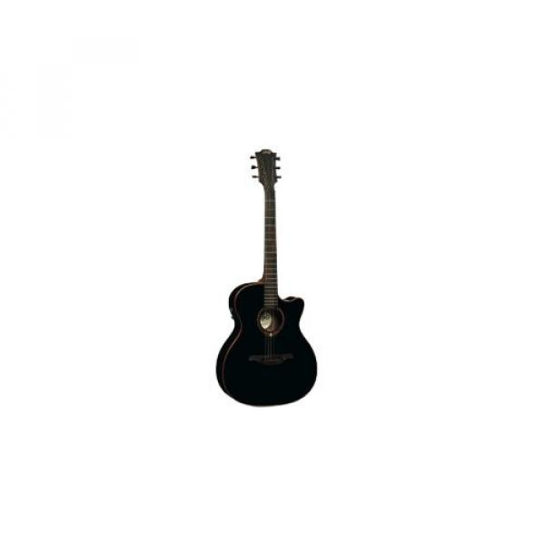 LAG T100ACEBLK Stage Auditorium Cutaway Acoustic-Electric Guitar - Black #1 image