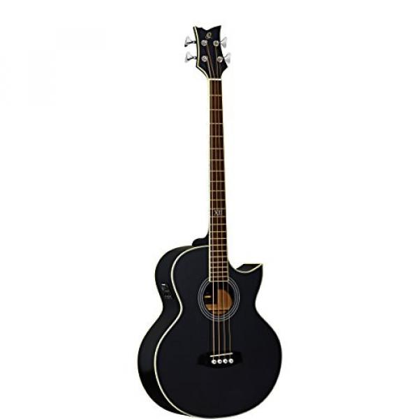 Ortega Guitars D1-4LE One 4-String Left-Handed Acoustic Bass with Solid Spruce Top and Mahogany Body, Gloss #1 image