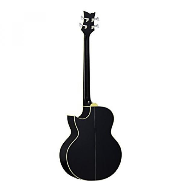 Ortega Guitars D1-4LE One 4-String Left-Handed Acoustic Bass with Solid Spruce Top and Mahogany Body, Gloss #2 image