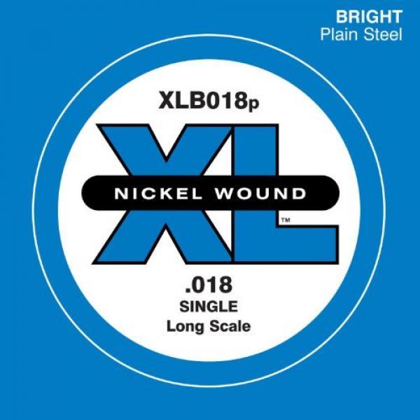 D'Addario XLB018P Plain Steel Bass Guitar Single String, Long Scale, .018 #1 image