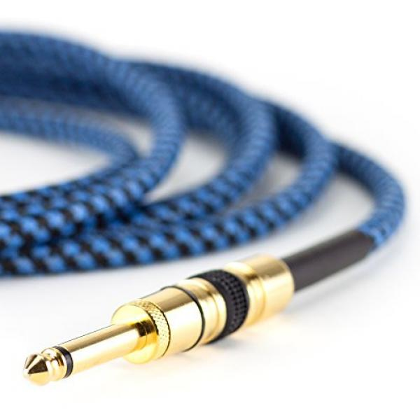 Rig Ninja Guitar Cable - Premium Musical Instruments Cable, Electric Guitar & Bass Guitar Cord - 10ft Recording Studio Quality Guitars & Bass Amp Cord, Heavy Duty Guitar Cords for Guitar Amps #2 image
