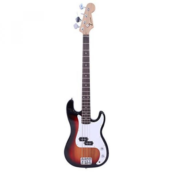 ALightUp Electric P Bass Guitar Starter Kit with Bag and Accessories Pack Beginner Starter Package (Sunset Color) #2 image
