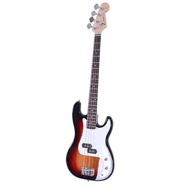 ALightUp Electric P Bass Guitar Starter Kit with Bag and Accessories Pack Beginner Starter Package (Sunset Color) #3 image
