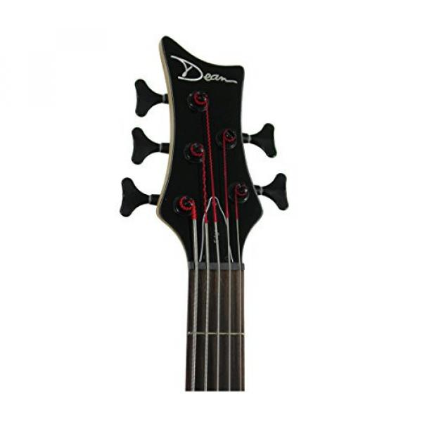 Dean E5 EMG CBK Edge 5-String Bass Guitar with EMGs, Classic Black #2 image