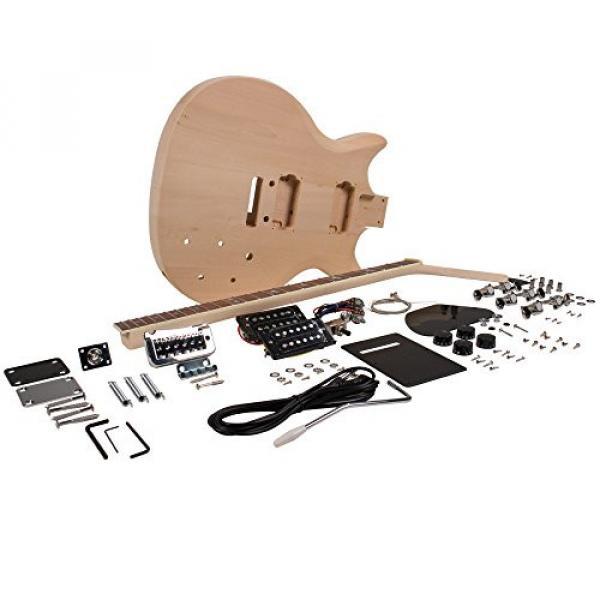 Seismic Audio - SADIYG-11 - Premium PRS Style DIY Electric Guitar Kit - Unfinished Luthier Project Kit #1 image