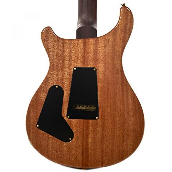 PRS CME Wood Library Custom 24 10 Top Quilt Black Gold w/Pattern Regular Neck #3 image