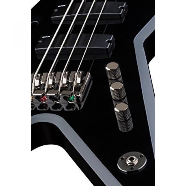 Dean RZR BASS CBK Razorback Bass Guitar, Classic Black #3 image