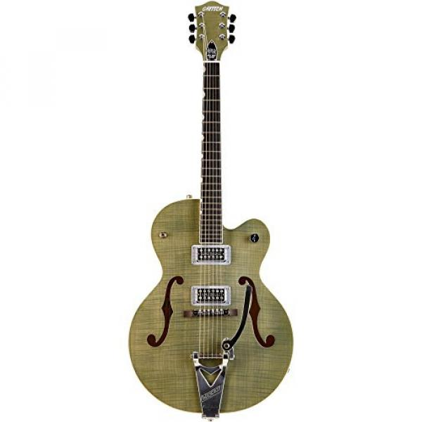 Gretsch Guitars G6120SH Brian Setzer Hot Rod Flame Maple Body Semi-Hollow Electric Guitar Highland Green 2-Tone #1 image