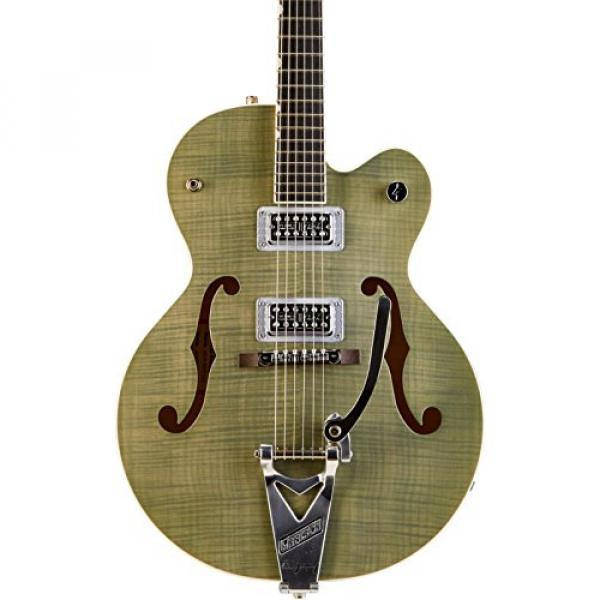 Gretsch Guitars G6120SH Brian Setzer Hot Rod Flame Maple Body Semi-Hollow Electric Guitar Highland Green 2-Tone #3 image