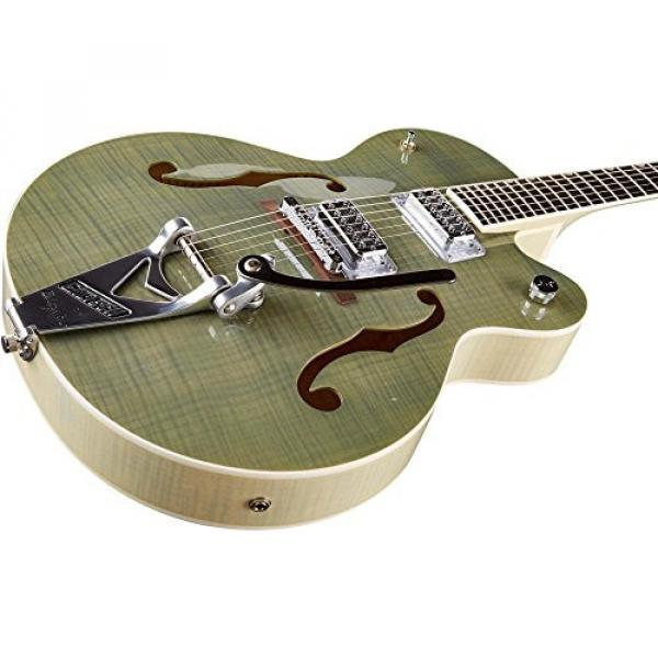 Gretsch Guitars G6120SH Brian Setzer Hot Rod Flame Maple Body Semi-Hollow Electric Guitar Highland Green 2-Tone #4 image